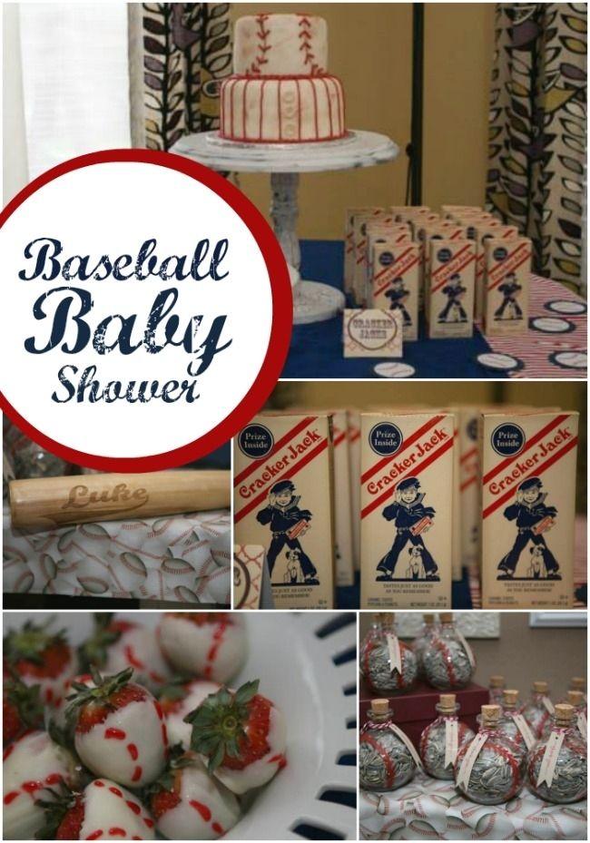 boy's baseball themed baby shower ideas www.spaceshipsandlaserbeams.com