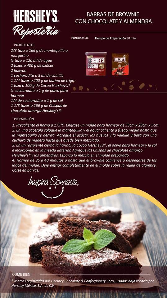 Una deliciosa receta preparada con Cocoa Hershey's® y Chispas de chocolate amargo Hershey's®. #Hersheys #Chocolate #InspiraSonrisas #Repostería #Postres #Receta #DIY #Bakery #Pastel