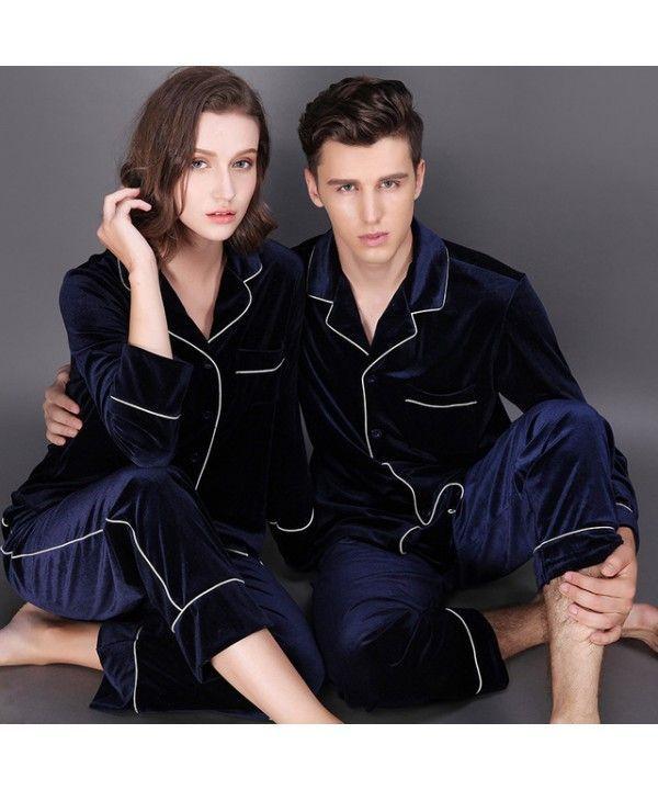 e8d7f6b266 Long sleeve fashionable couple pajamas,velvet pajama sets | MENS ...