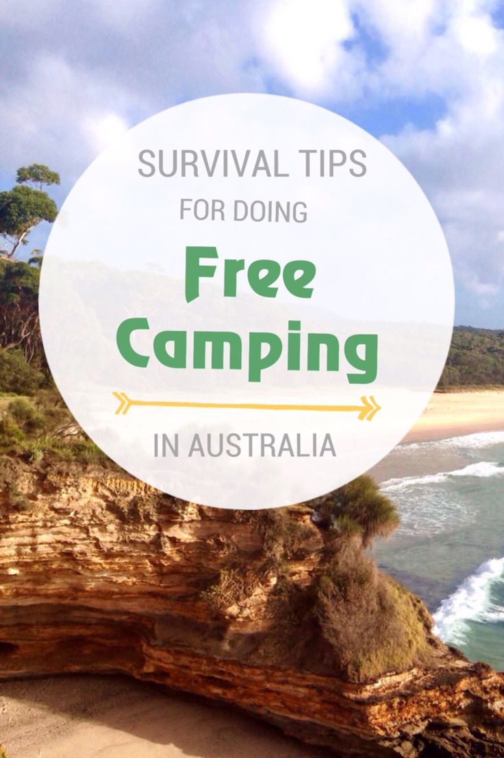 How to do free camping in Australia.