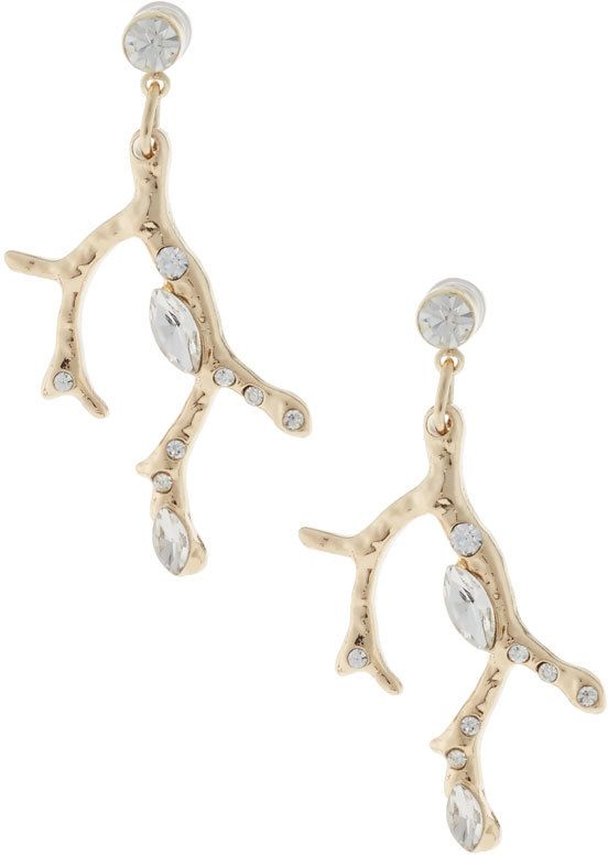 Lydell NYC Crystal Branch Drop Earrings