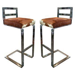 Inspirational Milo Baughman Bar Stools