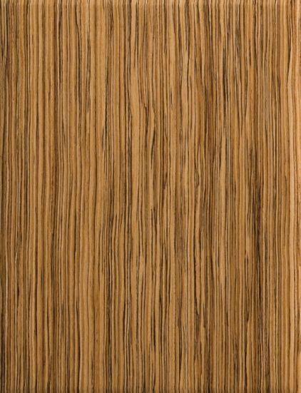 Zebrawood engineered veneer cabinet door dura supreme for Wood veneer kitchen doors
