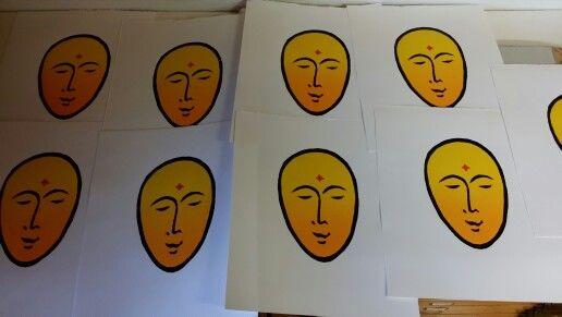 Printing wood cut