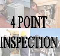 The 4 point inspection is a detailed assessment of 4 specific areas:  1. Electrical 2. Plumbing 3. Air conditioning/Heating and 4. Roof