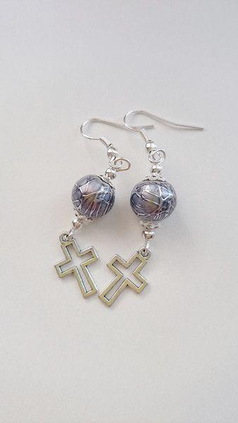 Kolczyki krzyż - barbarella-br - Prezenty dla kobiet