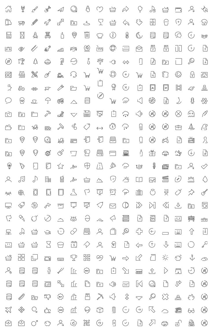 Minimal SVG icon set