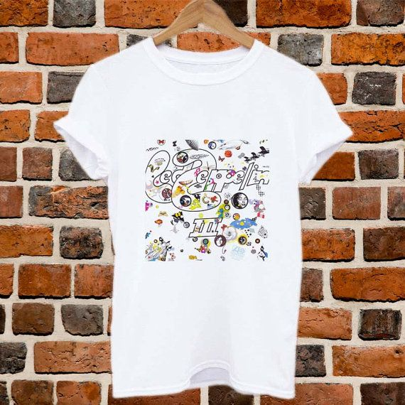 #clothing #men_shirt #shirt #men_M_L_XL #t-shirt #black #white #Led_Zeppelin #3_cover