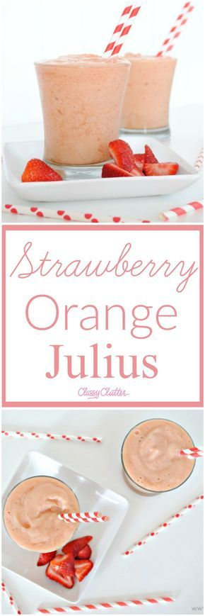 I love this refreshing strawberry orange julius. You must try it. It is so yummy!