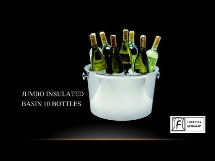 """JUMBO insulated basin Holds up to 10 bottles   10""""(H) x 16.5""""(W) Product Code 2.5.003.00.393  SHIPPING IN CANADA ONLY!"""