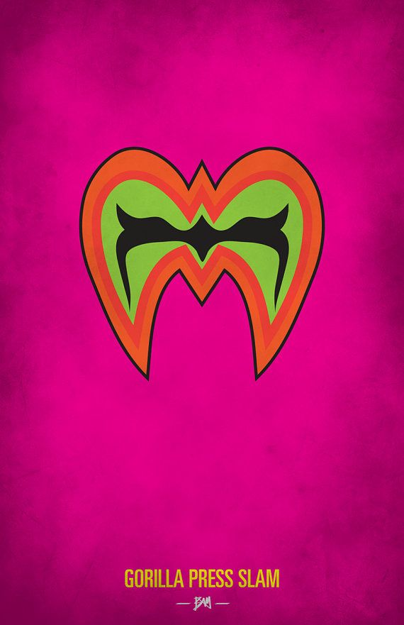 WWF Legends Minimalist Poster 'Ultimate Warrior' by BAMitsBernie, $20.00