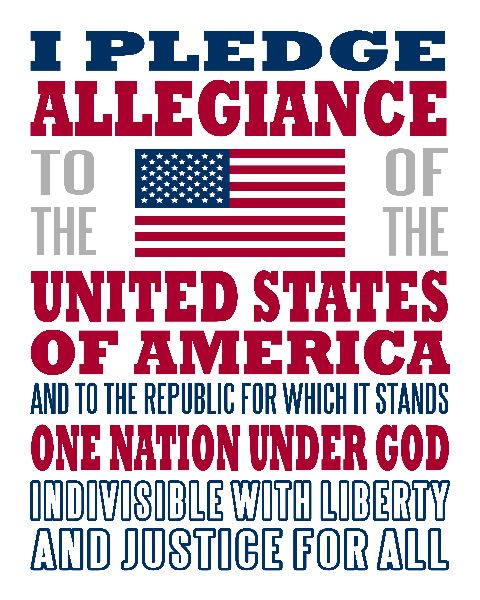 I Pledge Allegiance - Printable Poster... for my kids who are just learning it!