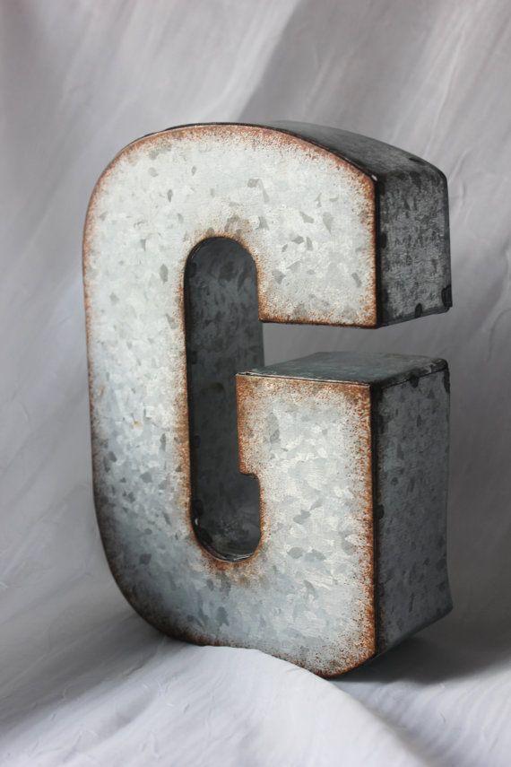 Lettres Decoration Zinc : The best ideas about large metal letters on pinterest