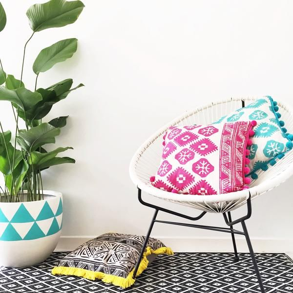 Handblockprinted vibrant & colourful aztec cushions....Use code AUSDAY17 to get 25% off storewide