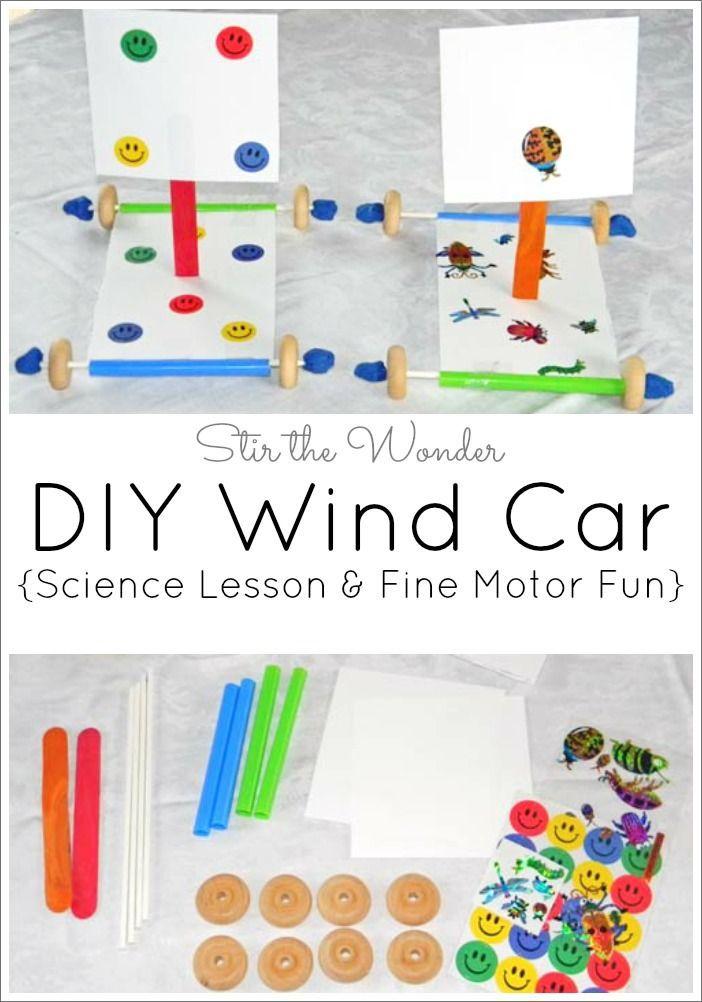 diy wind car science lesson fine motor fun