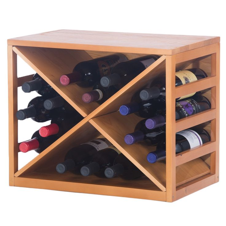 This stylish wine bottle rack easily adjusts to the size and configuration specifically to your wine collection size. Designed to fit securely one on top of the other for space-saving storage, this rack will allow you to stack floor to ceiling safely.
