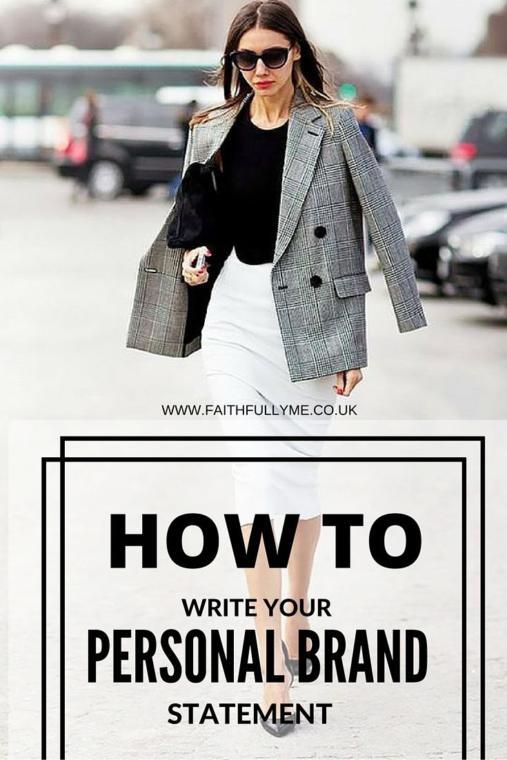 How To Write Your Personal Branding Statement | Personal Branding | Branding…