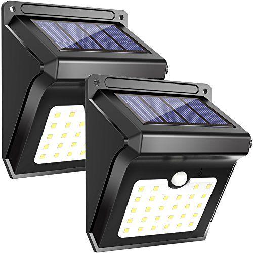 Lampe extérieure solaire 28 LED, capteur de mouvement, lampe de sécurité étanche sans fil, lampes solaires pour jardin, patio, cour, allée,…