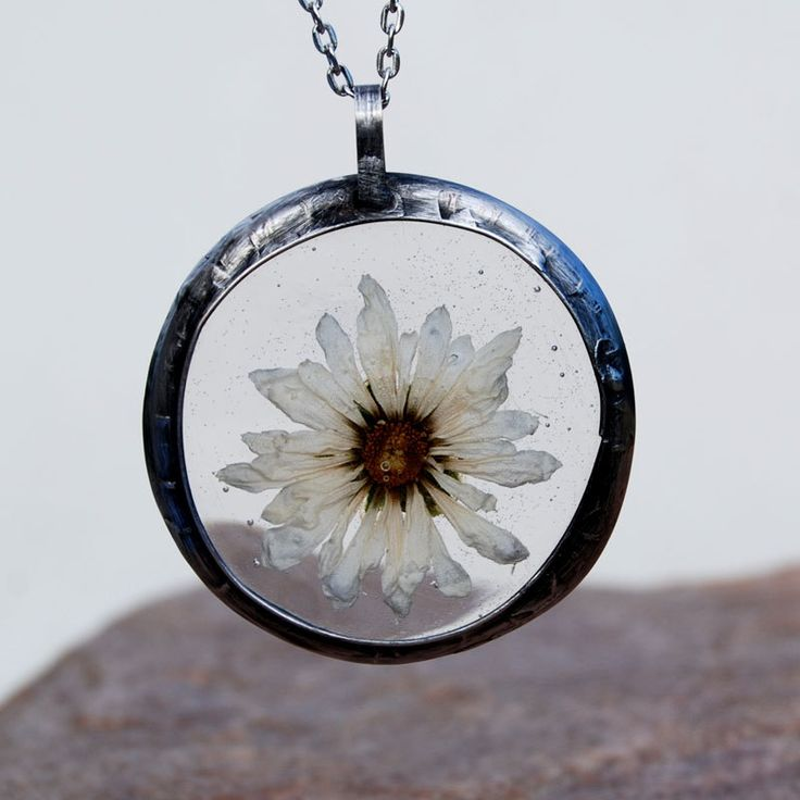 Pendant with natural flower,C344 ,romantic jewelry,terrarium necklace,gift for her,wedding jewelry,real plant jewelry,resin jewelry,boho by Artseko on Etsy
