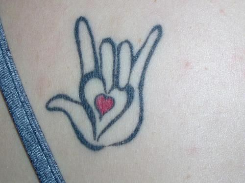 "Asl Love Tattoo: American Sign Language ""I Love"