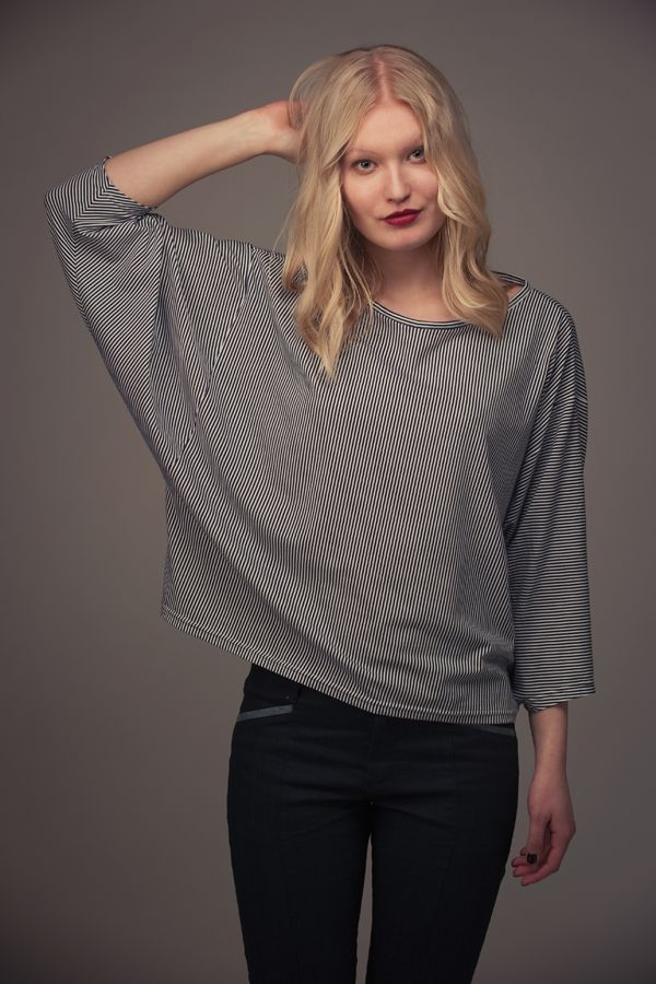 Named Clothing Blair Batwing Shirt Sewing Pattern - The Blair Batwing Shirt is a loose-fitting and casual shirt with wide sleeves and a dropped shoulder line.This pattern is very easy to sew and perfect for beginners.  ::  £6.50