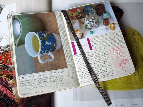 Idea Journal: keep track of ideas, hobbies and crafts