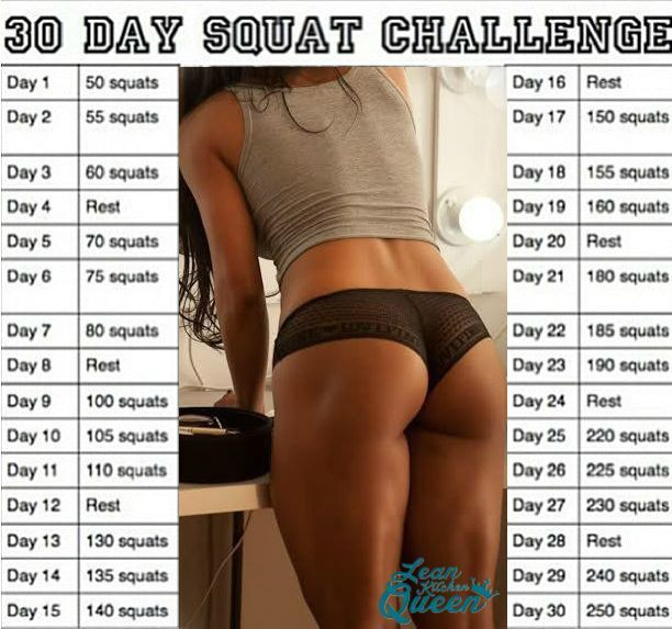 Squat Before And After Men | fitness | 30 дней приседаний