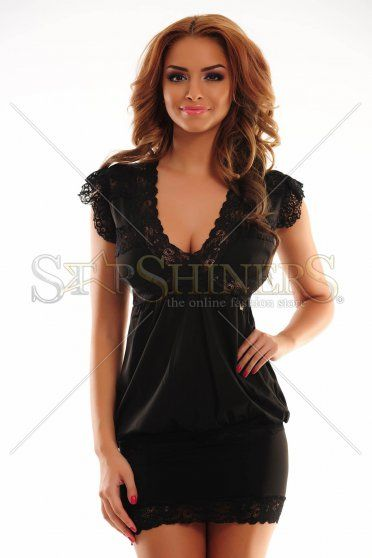 MissQ Laced Look Black Dress