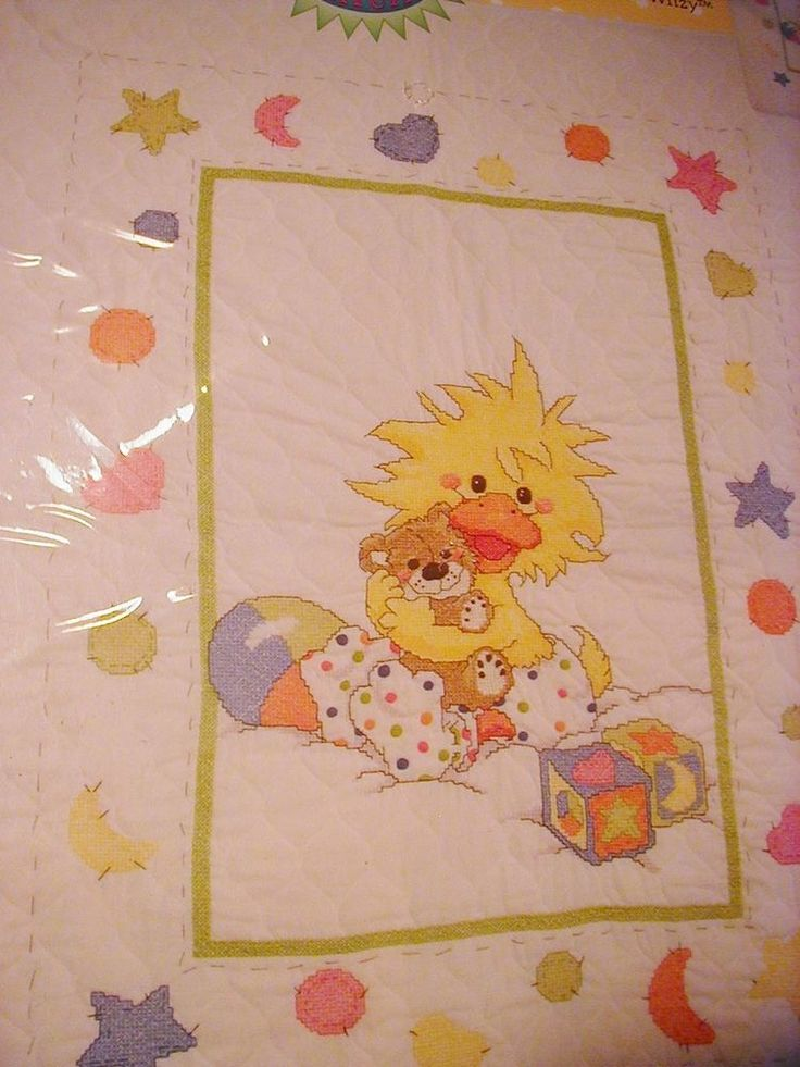 Witzy Little Suzys Zoo Cross Stitch Quilt Kit Sealed Made USA Baby Janlynn  #Janlynn #Quilt