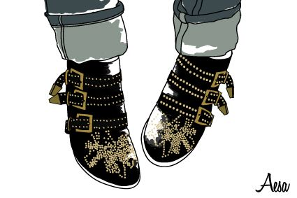 Shoes by Aesa Illustration chloe - drawing