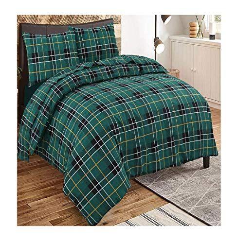 Ma Online Soft Comfortable Thermal Tartan Flannelette Duvet Covers
