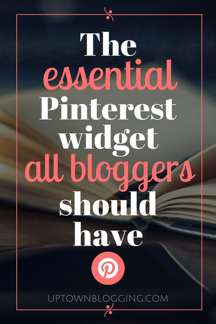 The essential Pinterest widget all bloggers should have | Want to install a Pinterest widget button on your blog? Here's how.