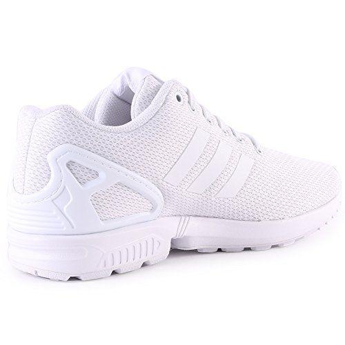 adidas ZX Flux Decon, Une Femme Grande Sneakers - Blanc - Weiß (FTWR White/Core Black/FTWR White), 37 1/3 EU