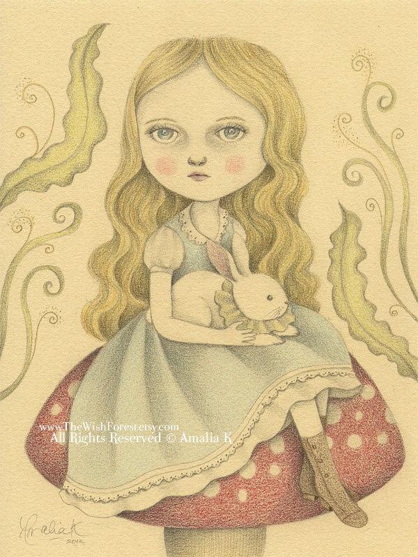 Original Illustration Pencil Drawing Nursery by TheWishForest