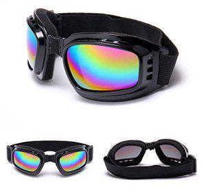 FuriAuto Lunettes Goggle Moto Cross Lunettes de Ski Protection Anti-UV Brouillard CE Lentille de Couleur