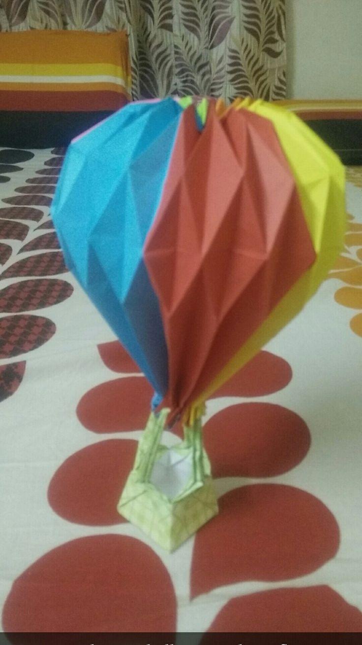 Origami samples hot air balloon origami printable origami origami samples hot air balloon origami balloon origami choice image craft decoration ideas jeuxipadfo Choice Image