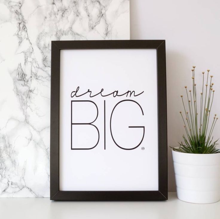 "Print ""Dream Big"" by m.belle"
