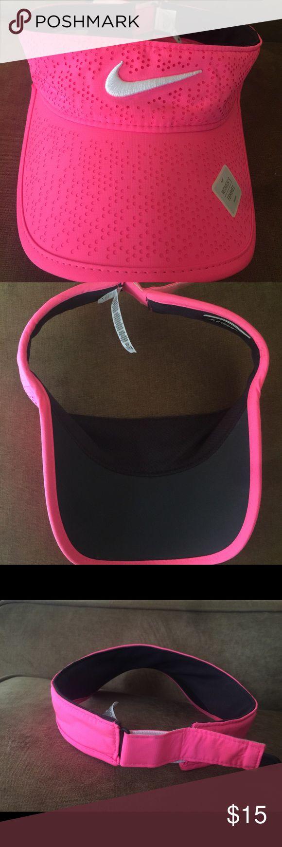 Nike Visor Hat Nike, Hyper pink, Visor hat. Nike Accessories Hats