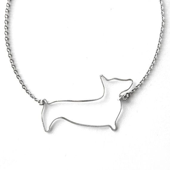 Corgi Necklace Pembroke Welsh Corgi Necklace by FioreJewellery
