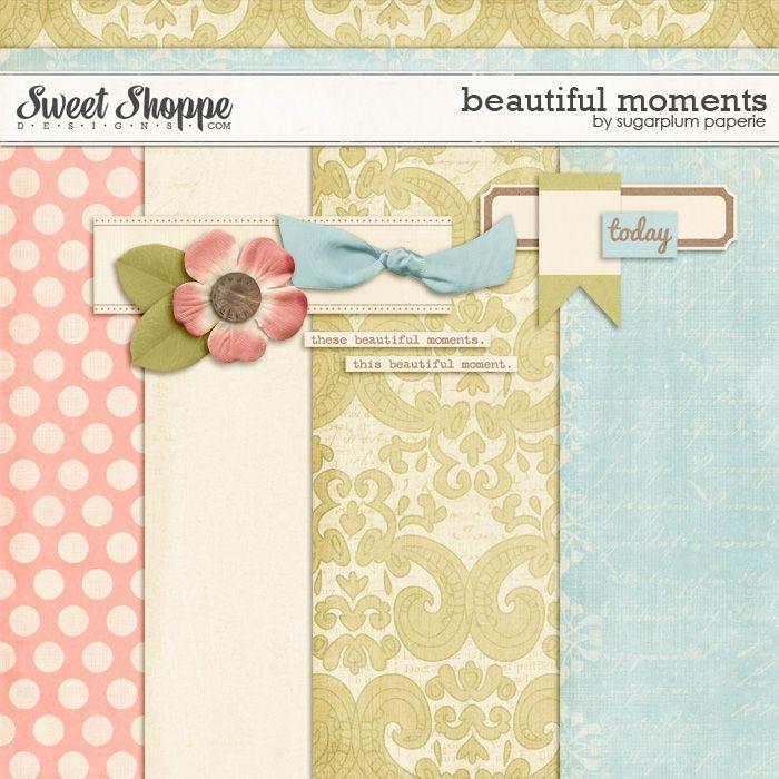 Beautiful Moments tiny kit freebie from Sugarplum Paperie