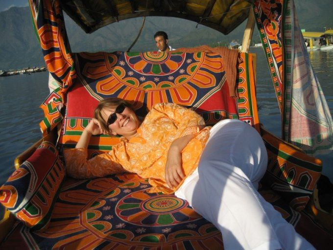 enjoying a shikara ride in dallake. during my #travel in kashmir http://ihimalayan.wordpress.com/2014/08/13/srinagar-tourism-a-tour-of-the-city/