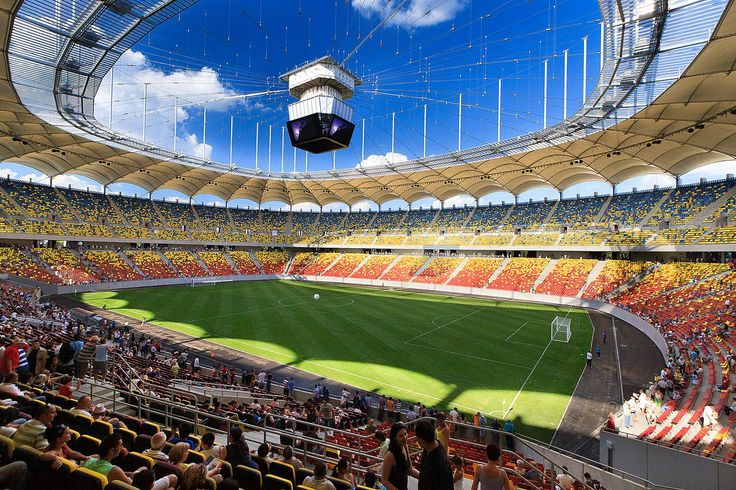 To all the football fans, check out one of the best stadiums in Europe: The National Arena Bucharest / Romania