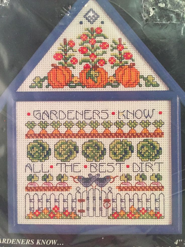 Bucilla Cross Stitch Kit With Frame Counted Cottages 33468