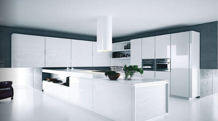 Fotos de cocinas de color blanco14
