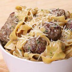 One-Pot Swedish Meatball Pasta