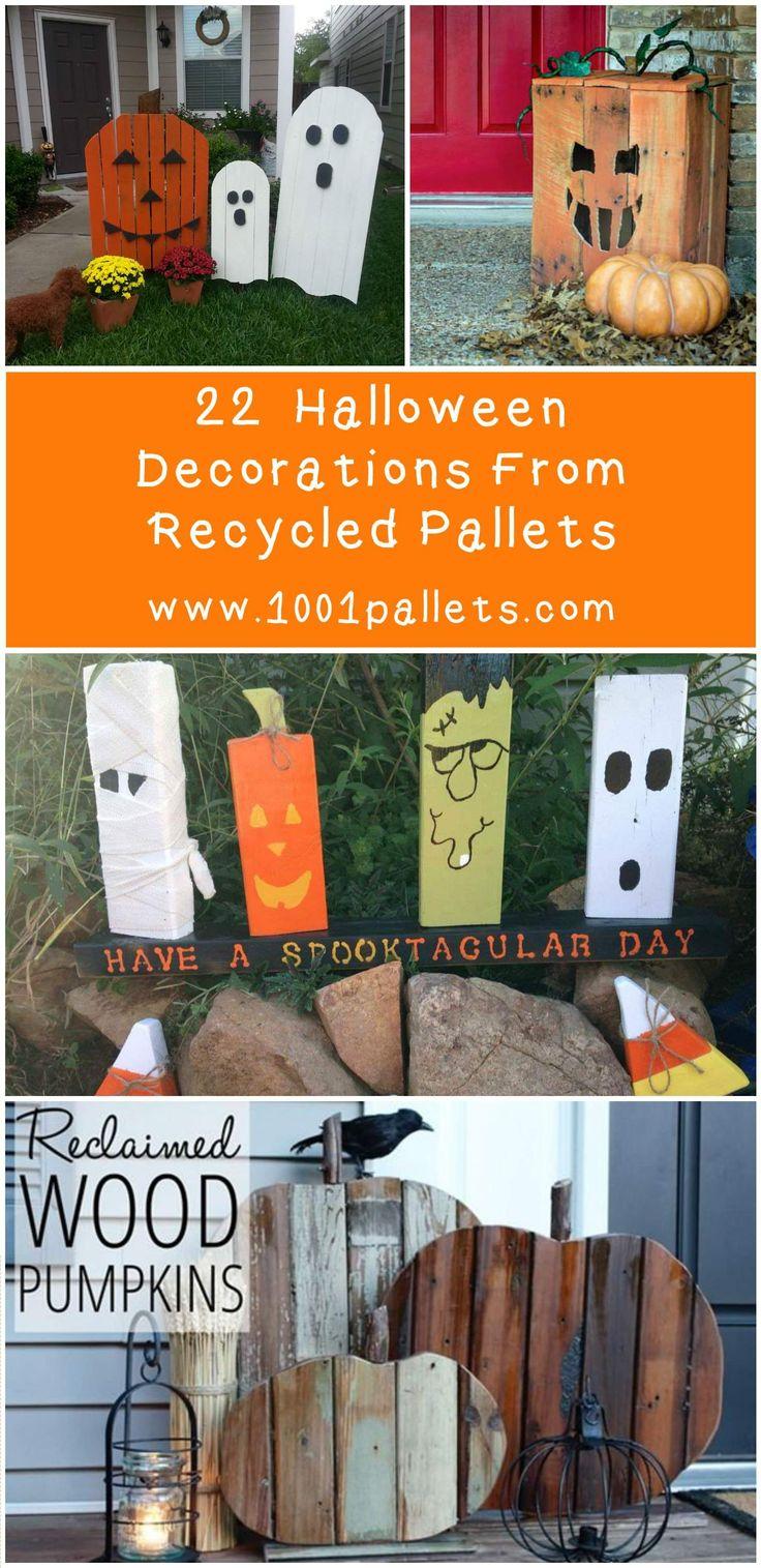 22 superb halloween pallet ideas wooden pumpkins decorations page 2 of 2