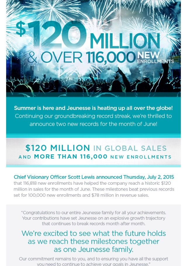 WOW!! $120 million in sales for June!! Join me today!!