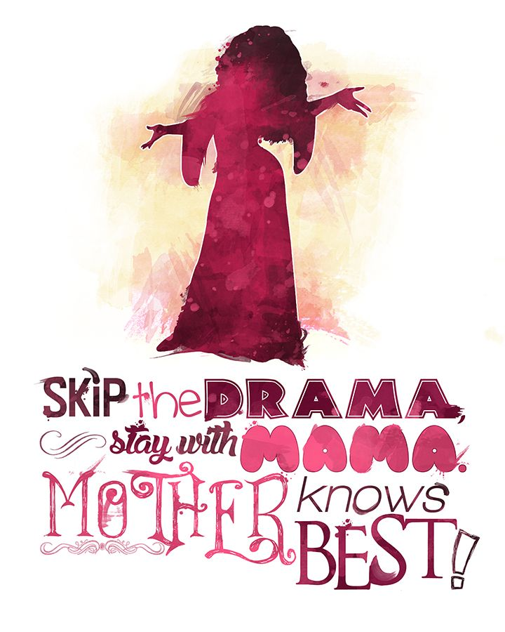 Mother Gothel and her quote: Mother knows best! #Disney #tangled #etsy…