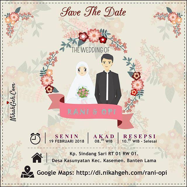E-invitation Rani & Opi  Tanya-tanya atau info lebih lanjut hubungi :  WA : 08561410064 Line : nikahgeh Desain bisa cek di  http://bit.ly/2rnZvXk  #weddingserang#undanganserang #infoserang #undanganminimalis #simpleinvitation #testinikahgeh #undanganpernikahanmurah #undangancantik #pesanundangan #invitationserang#kotaserang#undangancilegon #undanganpandeglang#undanganmurah #undanganpernikahan#undanganonline #undangankreatif#undanganunik#nikah  #nikahgeh#desainundangan#undangancustom…
