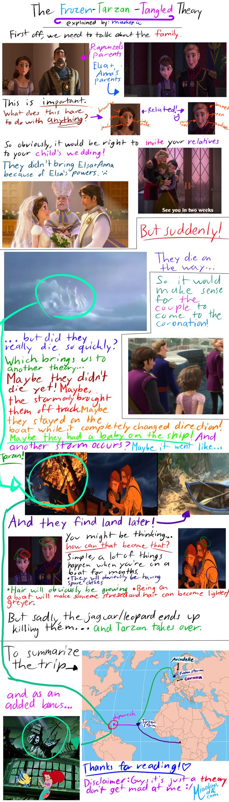 The Frozen-Tarzan-Tangled Theory by miaokep.deviantart.com on @deviantART